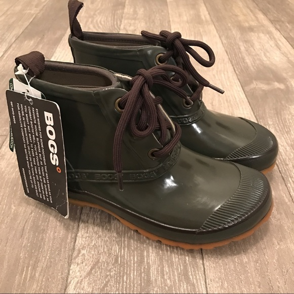 56 Off Bogs Shoes Bogs Charlot Green Lace Up Ankle Rain