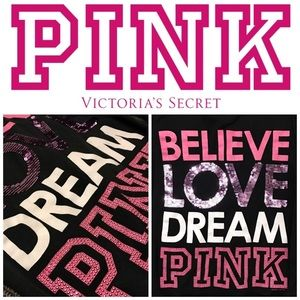 PINK Victoria's Secret Jackets & Blazers - Victorias Secret PINK bling sequin jacket hoodie
