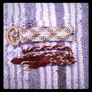 Accessories - Metallic Braided Waist Belts