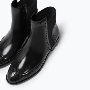 Zara Perforated Booties