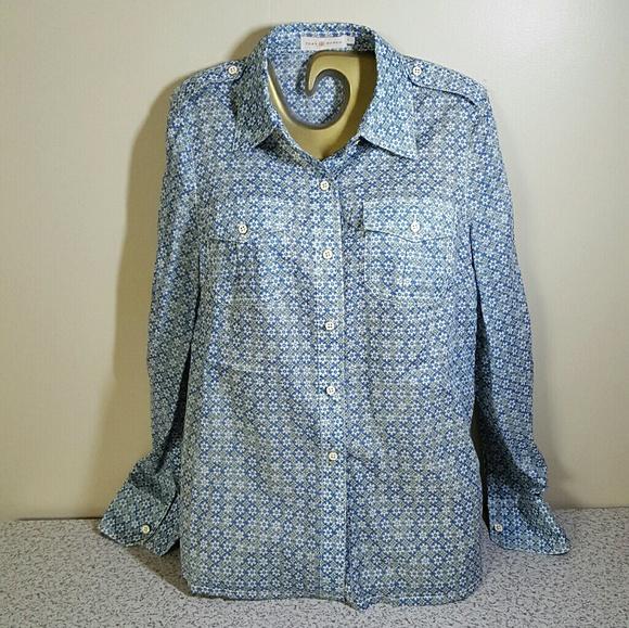 62 off tory burch tops tory burch long sleeved button for Tory burch button down shirt