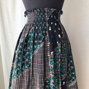 Beautiful Vintage Patchwork Skirt Floral Print
