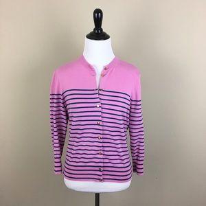 J. Crew Sweaters - J.Crew Jackie Cardigan in Stripe w/ Anchor Buttons