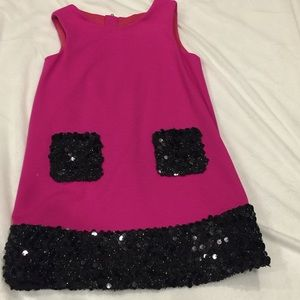 Milly Minis Other - MIlly mini dress hot pink with black sequins