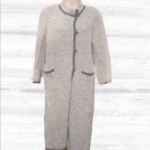 MHI Jackets & Blazers - Vintage mhi Mohair Chevron Print Sweater Coat