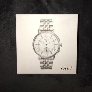 Fossil Q SmartWatch. Silver, diamond. Women's.