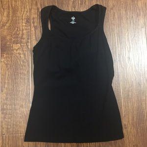 Prana Tops - Prana black yoga top built in bra top medium