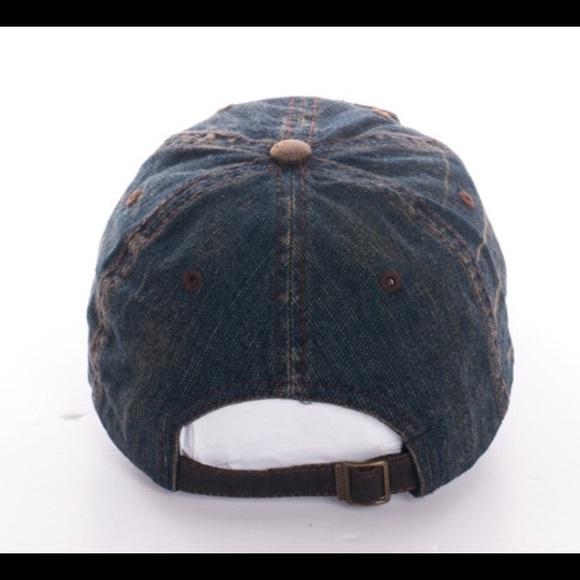 49 off scarlettsbags accessories vintage style denim rock n roll baseball cap hat from jen 39 s. Black Bedroom Furniture Sets. Home Design Ideas