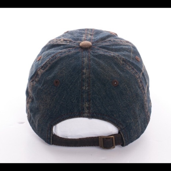 49 off scarlettsbags accessories vintage style denim rock n roll baseball cap hat from jen 39 s. Black Bedroom Furniture Sets. Home Design Ideas