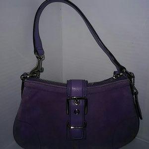 Coach Handbags - VTG COACH mini Satchel- Lavender ( C04Q-7558)