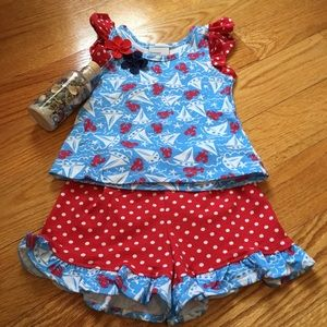 Flap Happy Other - NEW Summer Ruffled Short Set for Baby Girl