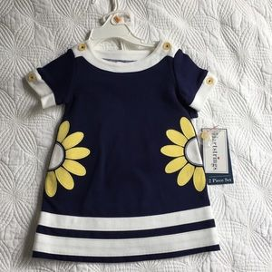 Hartstrings Other - Hartstrings Navy and Yellow Dress