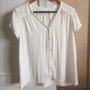 H&M white sheer top blouse