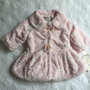 Widgeon Pink Faux Fur Dress Coat