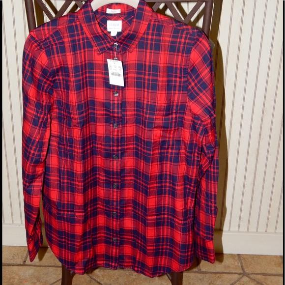 J.Crew Flannel Shirt in Boy Fit a95694b7a