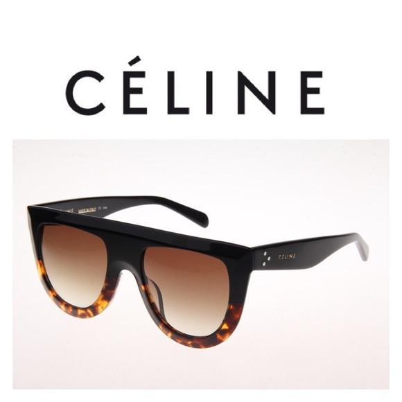 09d8e9da527a Celine Andrea Sunglasses Black-Tortoise CL41398 S
