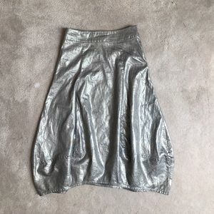 Eileen Fisher Dresses & Skirts - Eileen Fisher linen metallic skirt xxs