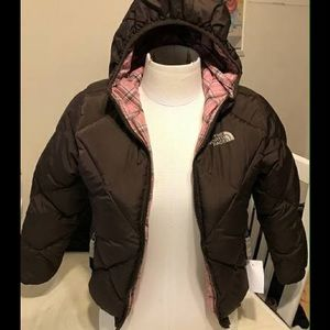 Girls North Face Reversable Coat #240