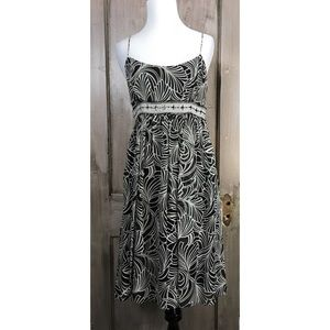 muse Dresses & Skirts - Black and White Silk Dress by Muse