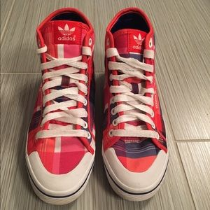 Adidas Shoes - Adidas plaid honey high top sneakers