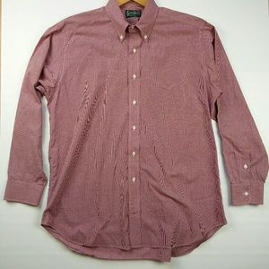 Gitman Brothers Other - NWOT GITMAN BROS MICRO GINGHAM PRINT Red L