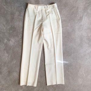 Brooks Brothers Pants - Brooks Brothers cream extrafine lined wool pants 2