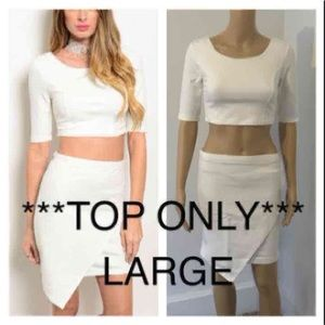 Tops - NEW Large Ivory crop top