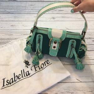 Isabella Fiore Handbags - NWOT beautiful multi green/ white Isabella Fiore.