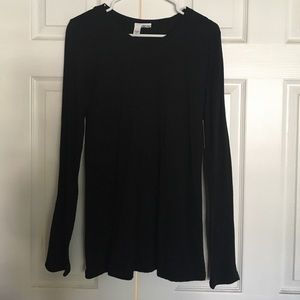 Abound Tops - Long Sleeve Black Tee