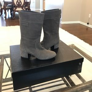 Authentic Chanel booties. Gray. Size 36. $750.00