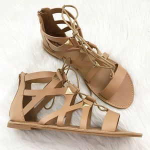 Shoes - Toffee Gladiator Sandals