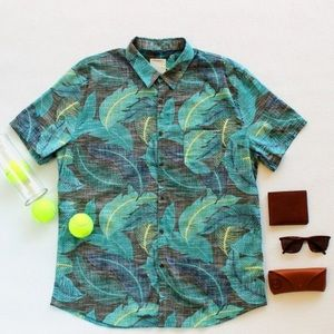 Life After Denim Other - NWOT Ashton Kutcher Palm Leaf Shirt