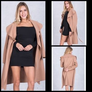 SALE🌻NWT: Long Camel Colored Coat