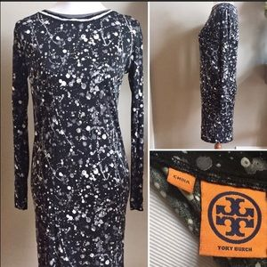Tory Burch Paint Splatter Silk Dress