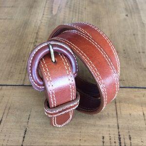 Talbots Italian Saddle Leather belt