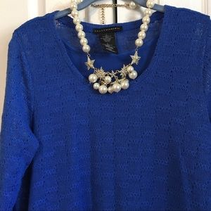 🎉HP🎉 Beautiful blue tunic with attached tank