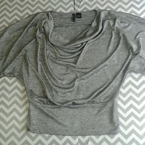 new directions Tops - New directions metallic silver poncho style
