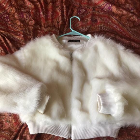 457f9af35 Brandy Melville Fur Bomber Jacket