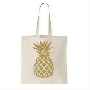 Salt Lake Clothing Handbags - Natural Golden Pineapple Tote Bag