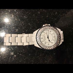 Accessories - Watch rhinestone white women's watch glitter