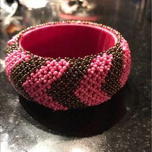 Nordstrom Jewelry - Bangle bracelet striped Nordstrom hot pink BOGO