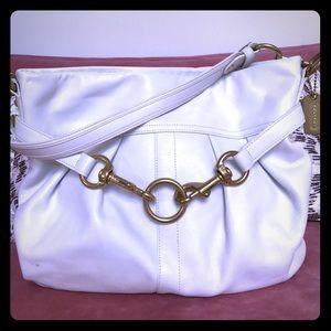 Coach Handbags - Authentic Vintage Coach Bag- White Leather