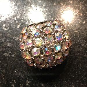 Jewelry - Rhinestone chunky adjustable ring jewelry