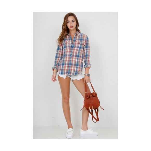 56b8401656 Mother Denim The Frenchie button up shirt NWT