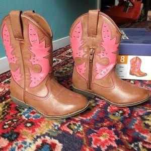 Cherokee Other - Cherokee Target Glinda pink/brown cowboy boots 8