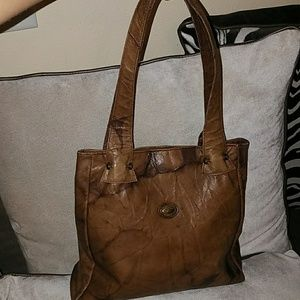 Leather brown Beau Swan Spain BAG