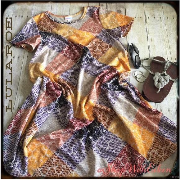 6e160b9b4751 LuLaRoe Dresses   Patchwork Jacquard Carly   Poshmark