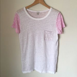 J. Crew Short Sleeve Pocket Floral T-Shirt XS