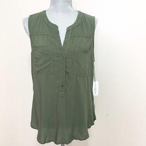 Velvet Tops - NWT -- Velvet Jael greensleeveless blouse