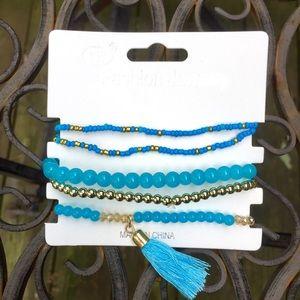 Jewelry - Tassel Bracelet in Light Blue